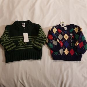 2 new 3-6 months boys sweaters